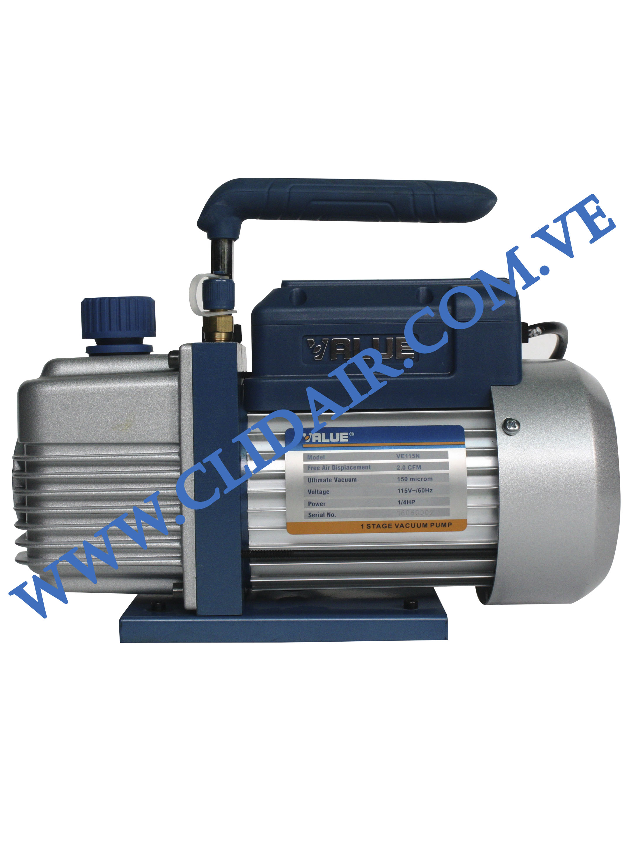 BOMBA DE VACIO 1/4HP 2CFM-150MICRON 110V/60HZ  VE115N   VALUE